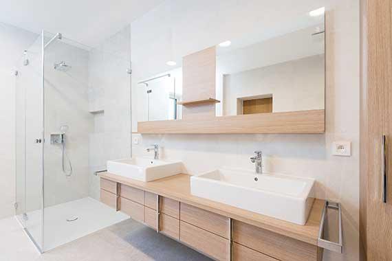 Salle de bain contemporaine Magog Sherbrooke Bromont Granby